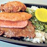"Teri Beef, Mahi Mahi, Spam, Fried Chicken and Rice. I guess you can say im a ""Mixed Plate"" 😉 #TwitterRaces #Zippac https://t.co/4KLXiU6kW3"