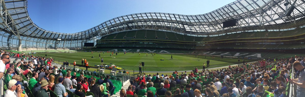 We're at the Aviva Stadium today making sure Martin and the lads are well prepared for Friday's big game #COYBIG https://t.co/5qxhhXlS8c