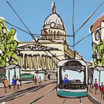 Recently painted a piece of #Nottingham and loved doing tram cables! #art #painting available at @George_Thornton :) https://t.co/tHxTXM5iI1