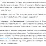 Las nuevas novedades de @twitter que vienen de camino. AutoRT, Fotos y enlaces no cuentan en 140 caracteres y más.. https://t.co/ELr9GSO96Y