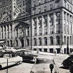 Here is the State Bank of Albany (now @BankofAmerica) at the corner of State and N Pearl in 1953. #Albany https://t.co/GRYXxxVq30