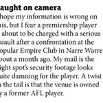 JUST IN | Hawthorns Bradley Hill charged with assault. Crackers Keenan with the mail on April 7 in @InsideFooty. https://t.co/3oAAVHmGxX