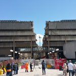 The concrete munchers have broken through the final side of the old library in Birmingham https://t.co/QpK2T4kOJz