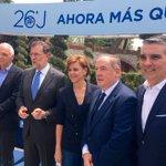#AhoraMasQueNunca en Madrid  @marianorajoy con los cabeza de lista al @Congreso_Es por el @ppdegalicia https://t.co/QcjUlUJhfh