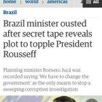 """Maior jornal da Inglaterra denuncia golpe. O Globo discorda. Em quem vc acredita? (""""Plot"""": complô, conspiração) https://t.co/08sfNQyRr5"""