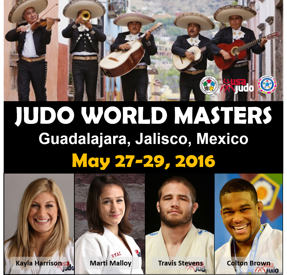 The team leaves for Guadalajara tomorrow for the 2016 Judo World Masters! Plan to watch live stream on May 27-29. https://t.co/ZHbuSq1XOR