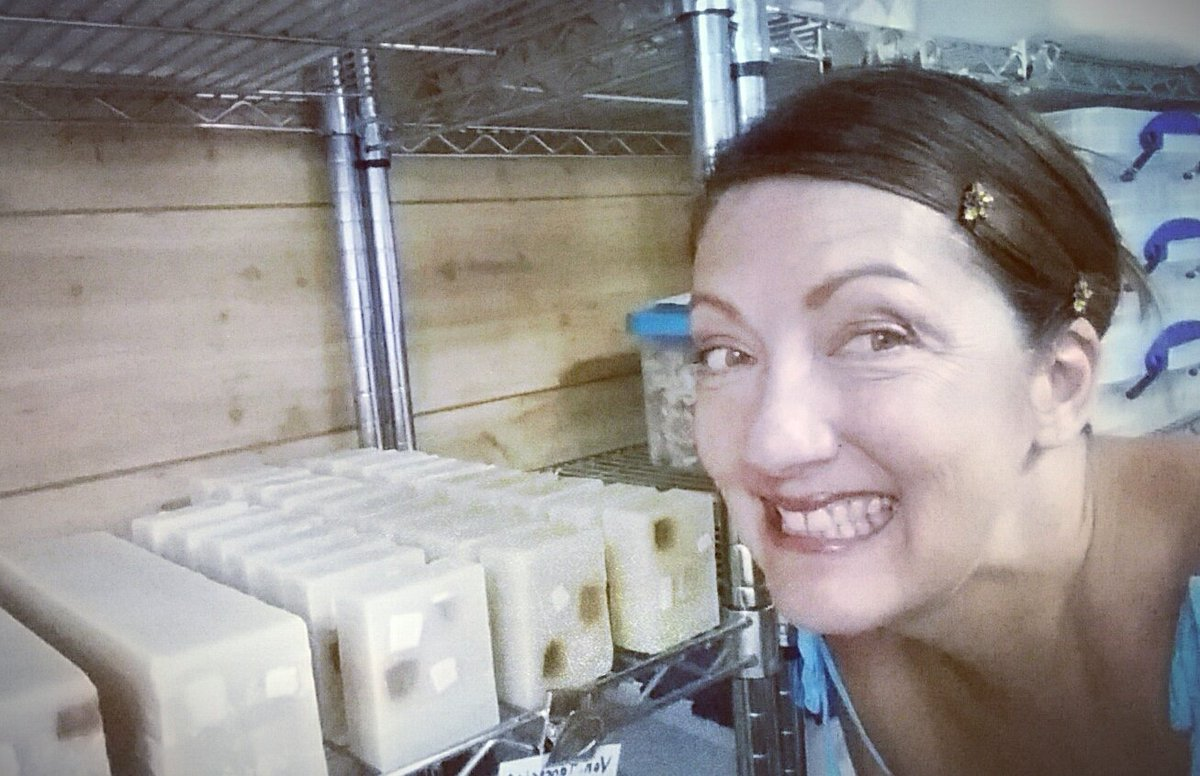 Soap loaves on the curing rack ready for the big sale! https://t.co/115MgPCzTG https://t.co/r7x4XMYcm3