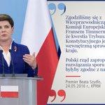 Premier @BeataSzydlo po spotkaniu z Wiceprzewodniczącym Komisji Europejskiej @TimmermansEU. Podajcie dalej! #KE #TK https://t.co/Q3sZIBeGLJ