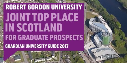 We're joint top in Scotland for graduate prospects in the 2017 Guardian University Guide! https://t.co/3W0W3AOdt5 https://t.co/7KWg7cgHp2