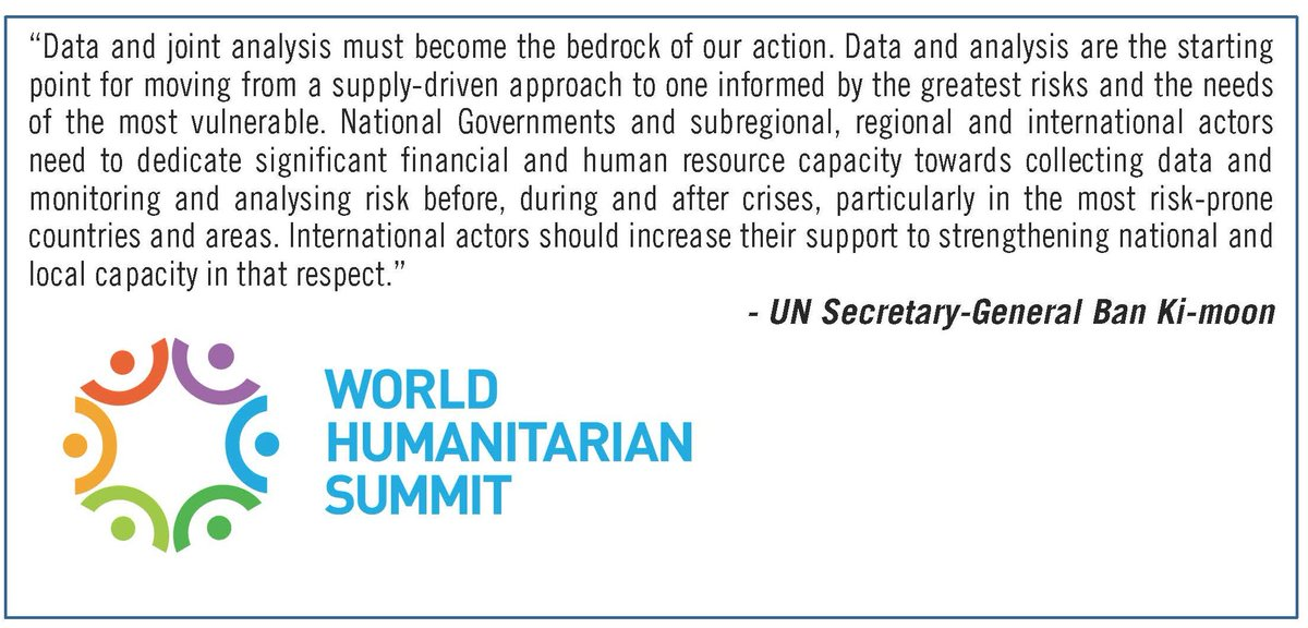 In his report for @WHSummit Secretary-General emphasizes data & analysis for action #datarevolution #sharehumanity https://t.co/adRS7G1WhJ