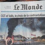 A la une du journal Le Monde ce soir : Saint-Nazaire ! #blocage #LoiTravail https://t.co/h7Y1qccJ4g