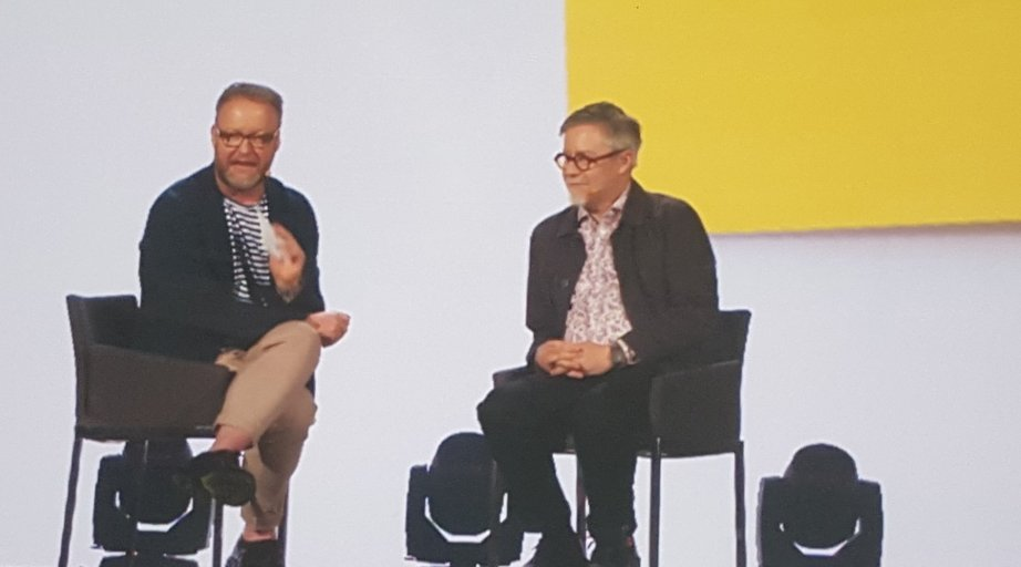 """Ideo CEO Tim Brown and CCO Paul Bennet suggest """"make others successful"""" as a creative goal. #C2M16 https://t.co/rPLXaCsD92"""