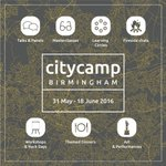 31st May - 18th June: @CityCampBrum bringing together pioneering ideas & people to explore the future of Birmingham. https://t.co/xbImzDrkxF