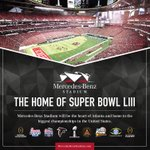 The Super Bowl has been awarded to @MBStadium and the @CityofAtlanta! The countdown is on: https://t.co/YLFyTEl9xW https://t.co/7YfruWY9J0