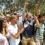 #UCSD athletes celebrate winning vote to Division I sports, which will cost all students $3,472.56 over 4 years. https://t.co/7VtwShXWmv