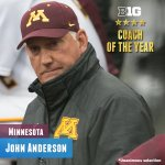 Congrats to John Anderson of @GopherBaseball on being named the unanimous 2016 Coach of the Year. #B1GBaseball https://t.co/sJ7oRLcsOz