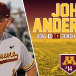 #Gophers head coach John Anderson was a UNANIMOUS choice for @B1Gbaseball Coach of the Year! https://t.co/pFldl1d6wX