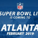Big day for the Atl-#SuperBowlATL #RiseUp College Football Championship in 18, SB in 19 and Final Four in 20 https://t.co/8X6dtkNu59
