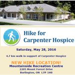 Theres still time to register for the Hike for Carpenter Hospice on Sat., May 28th #BurlOn https://t.co/mwrfZvi9E5 https://t.co/juVez1iKnP