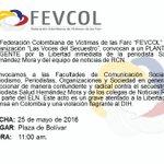 Apatrirs: RT herbinhoyos: La Federación Colombiana de Víctimas de las Farc junto con VocesSecuestro convocan a PLA… https://t.co/5b8mnVXsIu