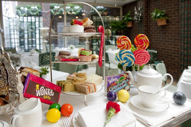 Looking for the perfect Afternoon?  Book our Charlie and The Chesterfield Afternooon tea today!  Wonka bars are free https://t.co/mBUqYikKLu