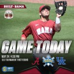 SEC Tournament starts today! @AlabamaBSB takes on Kentucky at the Hoover Met #RollTide https://t.co/T5gBjVUfbJ