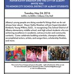 Tonight, 6-8p I invite you to come to City Hall for the May Rotunda Event Albany City School District Student Honors https://t.co/hVh5O7jB2c