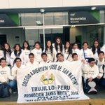 """Promoción 2016 """"James White"""" del Colegio Adventista """"JSM"""" (Trujillo) inician Intercambio Cultural rumbo al Brasil. https://t.co/D58qK6e0C2"""