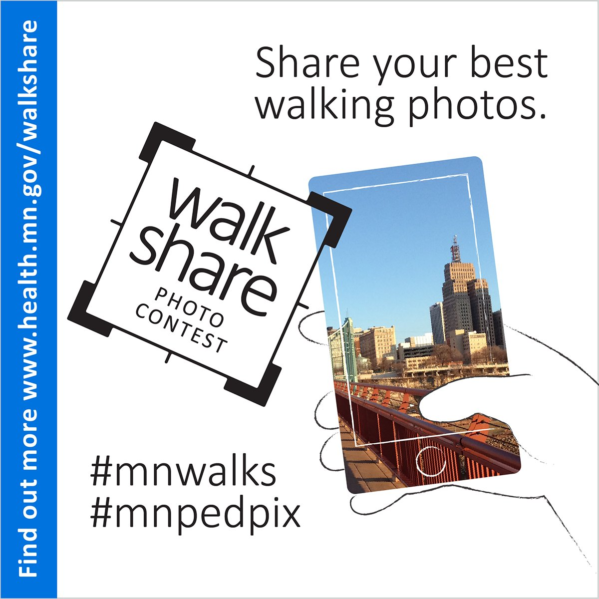 Taking a walk? Tweet your walking pics using #mnwalks #mnpedpix by June 3 and you could win! https://t.co/gAvDdt7XQZ https://t.co/rKOmbCFOoR