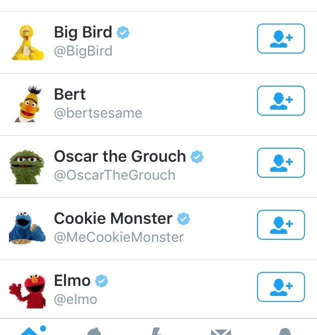 Of course everyone's verified but Bert. https://t.co/ZQW2YGr579