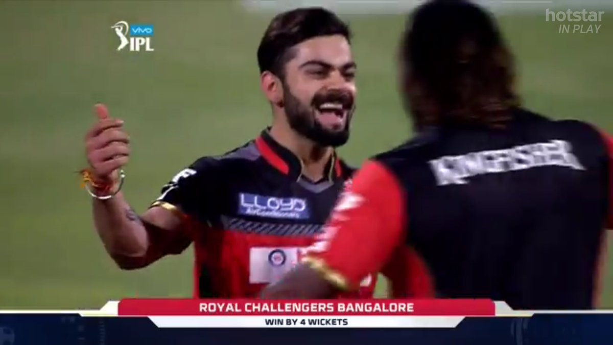 If that wasn't a team effort, I don't what is! Such an amazing win after being down 31-5 @RCBTweets!  #RCBvGL https://t.co/UOaPPlhQga