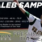 Caleb Sampen starts off the long list of #HLBase awards by taking Freshman of the Year! https://t.co/NxCPw2WVnS https://t.co/QUwlMyx8Ns