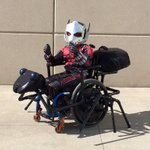 This little kid on a wheelchair dressed up as Ant-Man and made an Antony wheelchair. This is amazing! https://t.co/0ZkGfVjUVN
