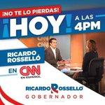 HOY! Nuestro próximo Gobernador @ricardorossello en @CNNEE @FuerzaDPueblo @RRossello2016 @TuiterosConRR #EnRRuta https://t.co/9la0ejbvzF
