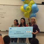 PG&E reps award Jineava To $20k scholarship, renewable for 5 yrs, up to $100,000.  Congrats Alpha Wolf! https://t.co/r6tr4Auq4r