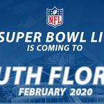 #SB54 will be played in SOUTH FLORIDA! #SBSelection https://t.co/9FBtALGjNl