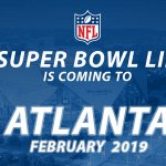 JUST IN: @NFL says Super Bowl LIII will be played in Atlanta in 2019. https://t.co/WfPYtLXVQv