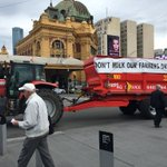 Dont milk our farmers dry - dairy farmers march about to get underway here at Fed Square @theheraldsun https://t.co/2Y7bxojriW