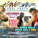 #HangoverPoolParty  Ladies Free till 11 w/ swimwear👙  $300💰 Wet T-Shirt Contest 💦👕 #DertyWorkENT #DertyWorkDolls💋 k https://t.co/2l2QfYwXh3
