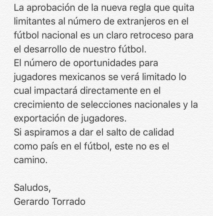Al medio futbolístico, sobre la regla 10/8: https://t.co/Qw5tJPZHzn