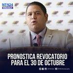 Rector Luis Emilio Rondón, estima que para finales de octubre se realice el revocatorio https://t.co/hFyhT6qXYl https://t.co/aleQA3V1xx