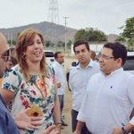 Alcalde @mrafael70 visita terreno donde se construirá el nuevo estadio en compañía de @ClaraLuzRoldan https://t.co/rReaN5KjXn