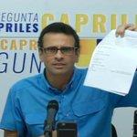 #24M @hcapriles: No vamos al TSJ, vamos a la Corte que dictó esta sentencia https://t.co/XKpv0EN94k