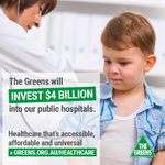 Our healthcare is an investment, not a cost. We have a plan to invest $4bn in public hospitals #Greens16 https://t.co/KRlBMBOHKY