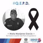 ¡Paz en la tumba de un gran héroe! Descanse en Paz Capitán de Bomberos de Plato Magdalena, Mario Manjarres García. https://t.co/ddII6TTx4l