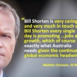 """Shorten is very caring & very much in touch &... exactly what Australia needs,"" Mathias Cormann. #auspol #ausvotes https://t.co/hGwXg4j3QA"