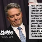 Mathias Cormann has defected from the Liberals, now supporting Bill Shorten and Labor team. #Election2016 #auspol https://t.co/FzlClfigen