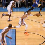 It is LOUD at Chesapeake Arena! At the end of the half, Thunder lead Warriors, 72-53. https://t.co/k2C6no7ju3