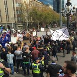 Farmers march through city and rally at Parliament furious at backdated milk price cuts. #7NewsMelb https://t.co/INaU6cYGBF
