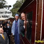 Puffing Billy: Faster than the NBN! #auspol #ausvotes #FasterthantheNBN #NBN https://t.co/by1KJtVsZ6